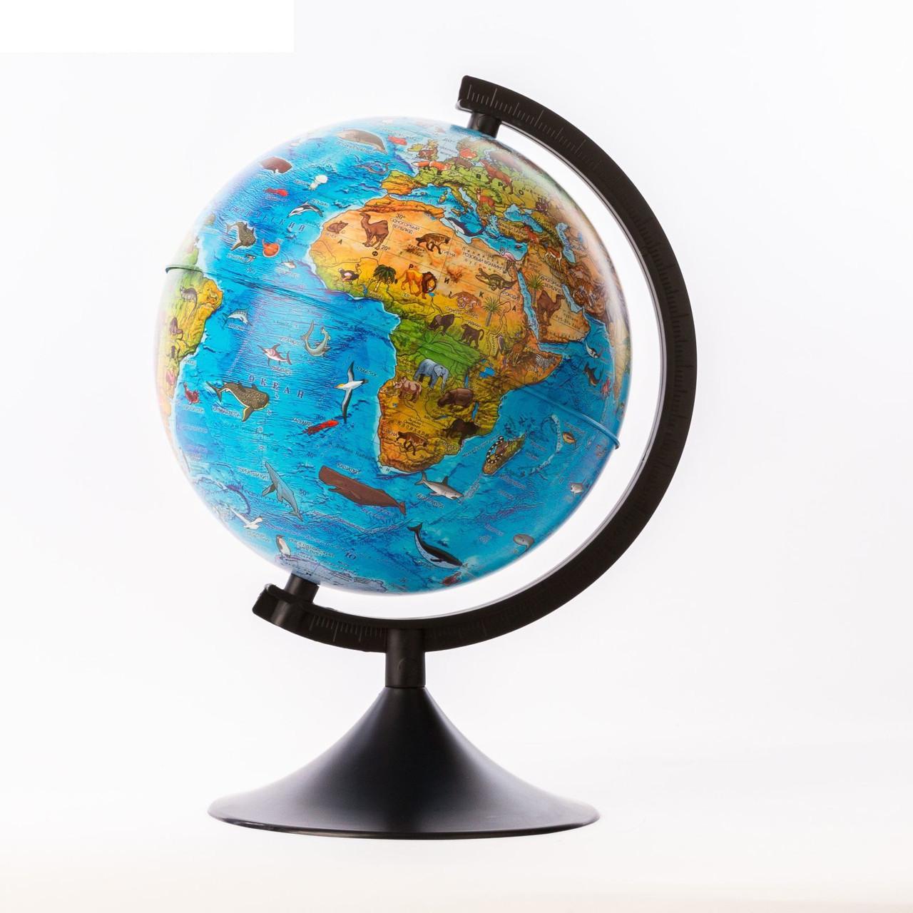 """Глобус зоогеографический Детский диаметр 320мм """"Классик"""""""