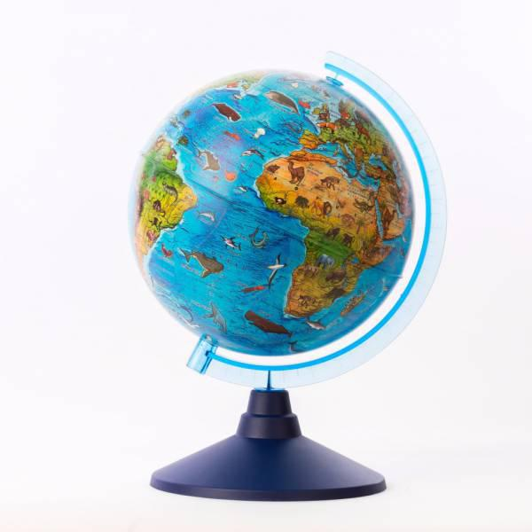 Глобус зоогеографический Детский диаметр 21 см