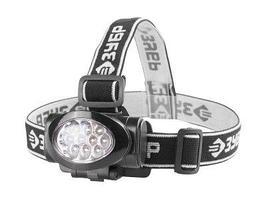 Фонарь налобный светодиодный, 3 режима Зубр Мастер 56438 (10Ultra LED, 3ААА)