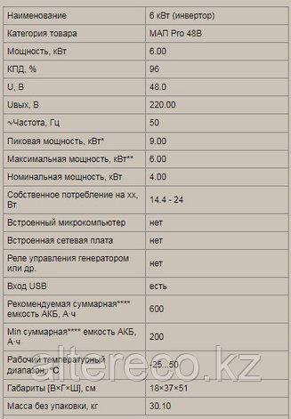 Инвертор MAP·PRO·48В·6кВт, фото 2