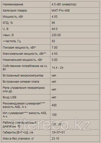 Инвертор MAP·PRO·48В·4,5кВт, фото 2