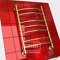 Полотенцесушитель водяной Двин L 70/40 см, цвет золото хром К3