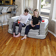 Надувной диван раскладной 200x160x64 см + подушки, Bestway 75063