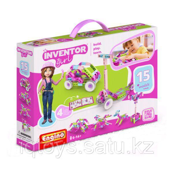 Конструктор ENGINO IG15 INVENTOR GIRLS Набор из 15 моделей