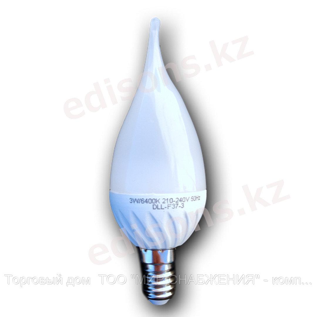 DLL-C35C-5 Светодиодная лампа свеча кристальная Е14-5Вт 4100К.ОПТОМ