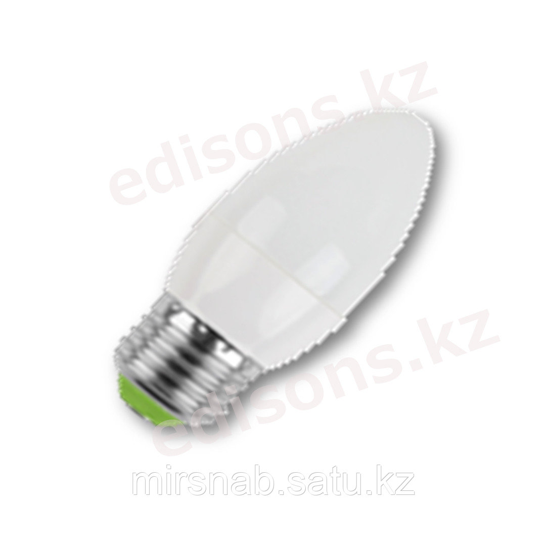 DLL-C37-7 Светодиодная лампа свеча Е27-7Вт 6000К.ОПТОМ