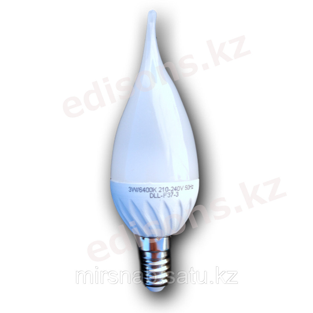 DLL-F37-8 Светодиодная лампа свеча на ветру Е14-8Вт 3000К.ОПТОМ
