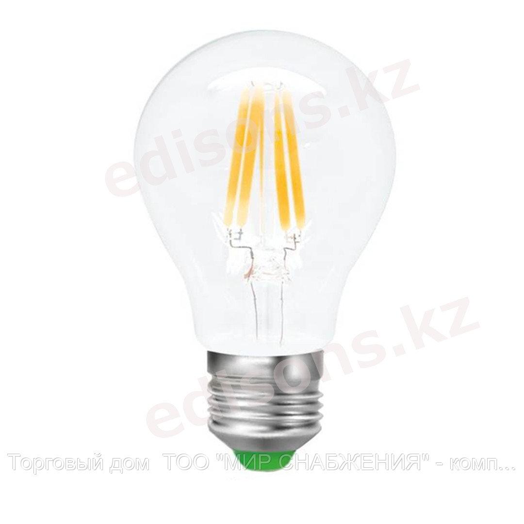 DLL-FA60-8 Светодиодная лампа филамент  Е27-8Вт 4000К.ОПТОМ