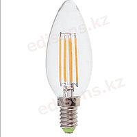 DLL-FC37-6 Светодиодная лампа филамент свеча  Е14-6Вт 3000К.ОПТОМ