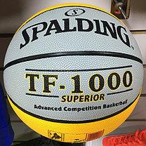 Баскетбольный мяч Spalding TF-1000 SUPERIOR (Черно-желтый), фото 3