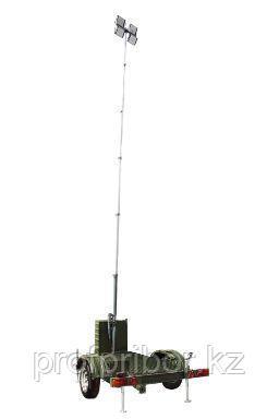 Мачта осветительная на LED светильниках, высота 6.5 м., на шасси - Осветительная мачта LED 6.5 на шасси