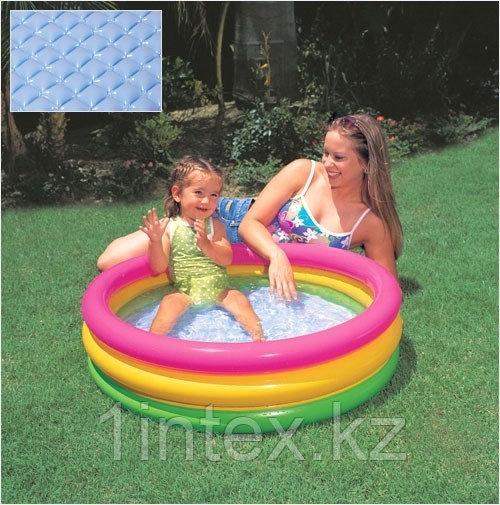 Надувной бассейн Intex 3 кольца с надувным дном (86х25 см.)