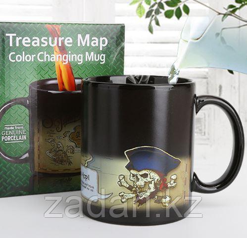 Кружка хамелеон «Пиратская карта»