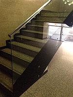 Перила стальные со стеклом