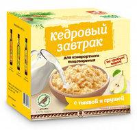Кедровый завтрак для комфортного пищеварения с тыквой и грушей, 40г