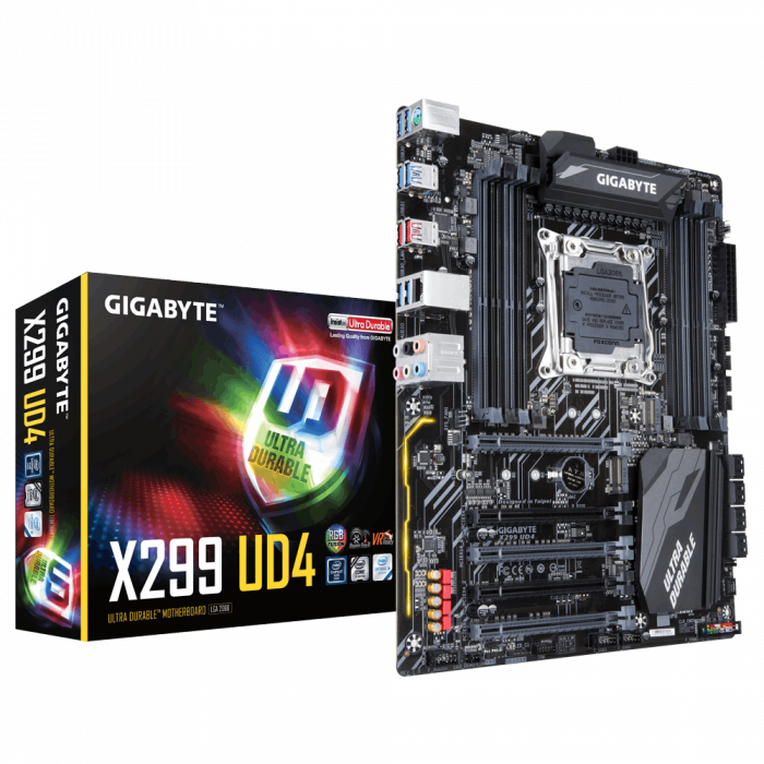 Материнская плата Gigabyte X299 UD4 X299 LGA-2066 GAX29SUD4-00-G