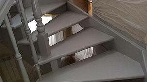 Реставрация деревянных лестниц в доме, фото 2