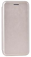 Кожаный чехол Open series для Samsung Galaxy A8 A530F 2018 (золотистый)
