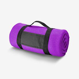 Плед флисовый с ручкой фиолетовый