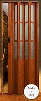 Раздвижные двери гармошка (0,86см Х 2м,030см) Китай Темн.Вишня