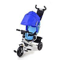 Mini Trike 3-х колесный велосипед синий (белая рама)