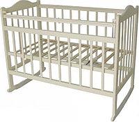 Детская кроватка колесо-качалка (слоновая кость)