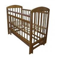 Детская кроватка-маятник продольного качания (орех)