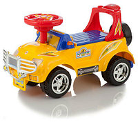 Машинка-каталка Джип (муз.панель) (желтая)