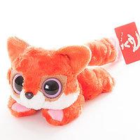 Мягкая игрушка Юху и друзья Лисица красная лежачая, 16 см