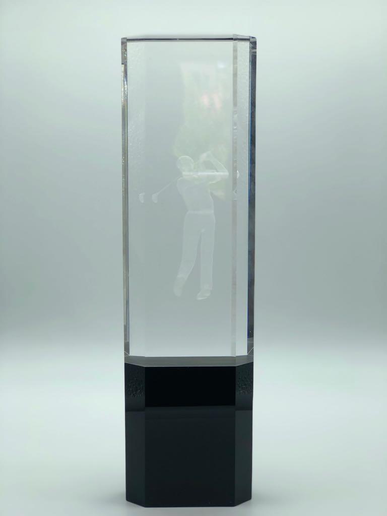 Хрустальная статуэтка «Гольф» с гравировкой