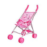 Коляска-трость для кукол розовая