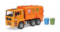 Игрушечная машинка MAN TGA Мусоровоз оранжевый, 1:16, фото 1