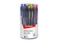 """Ручка шариковая автоматическая Berlingo """"SI-400 Color"""" синяя, 0,7мм, грип., фото 2"""