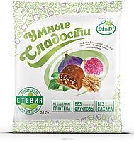 """Конфеты """"Умные сладости"""" инжир с грецким орехом в шоколадной глазури 210г"""
