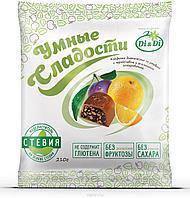 """Конфеты """"Умные сладости"""" чернослив с апельсином в шоколадной глазури 210г"""