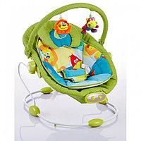 Детский шезлонг Bambola Piano Зоопарк зеленый