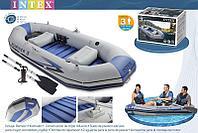 Надувная лодка Mariner 3 297х127х46см Intex 68373 с алюминиевыми веслами и насосом