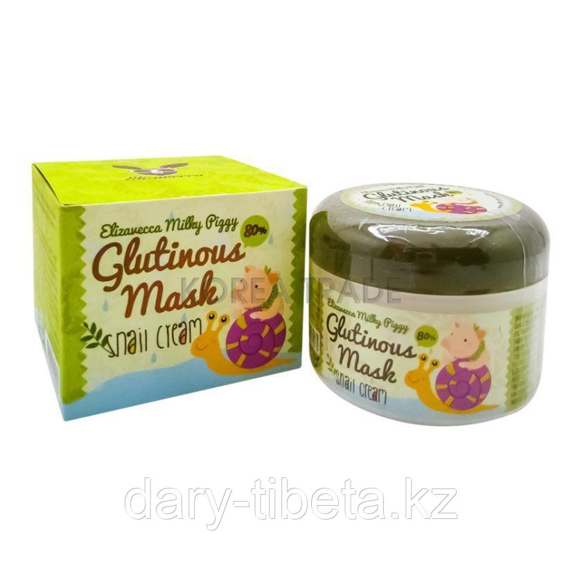 Elizavecca Milky Piggy Glutinous 80% Mask Snail Cream-Ночная маска для лица с муцином улитки