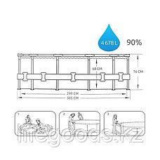 Каркасный бассейн круглый 305х76 см, Bestway 56406, фото 2