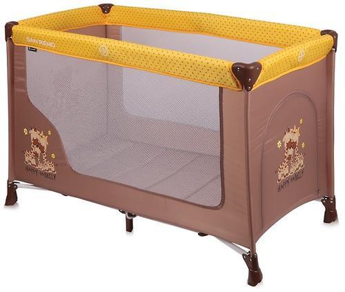 Lorelli Кровать-манеж Lorelli San Remo 1 (Бежево-Желтый/Beige & Yellow Family 1803)