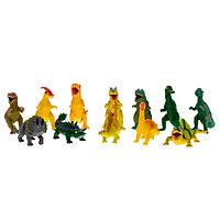 Игрушка Динозавр резиновый с наполнением гранулами, малый