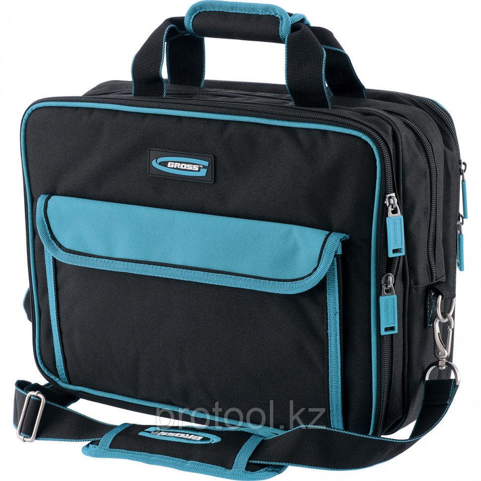 Сумка для инструмента Meister, 31 карман, отсек для ноутбука, наплечный ремень,400*170*300мм// GROSS - фото 1