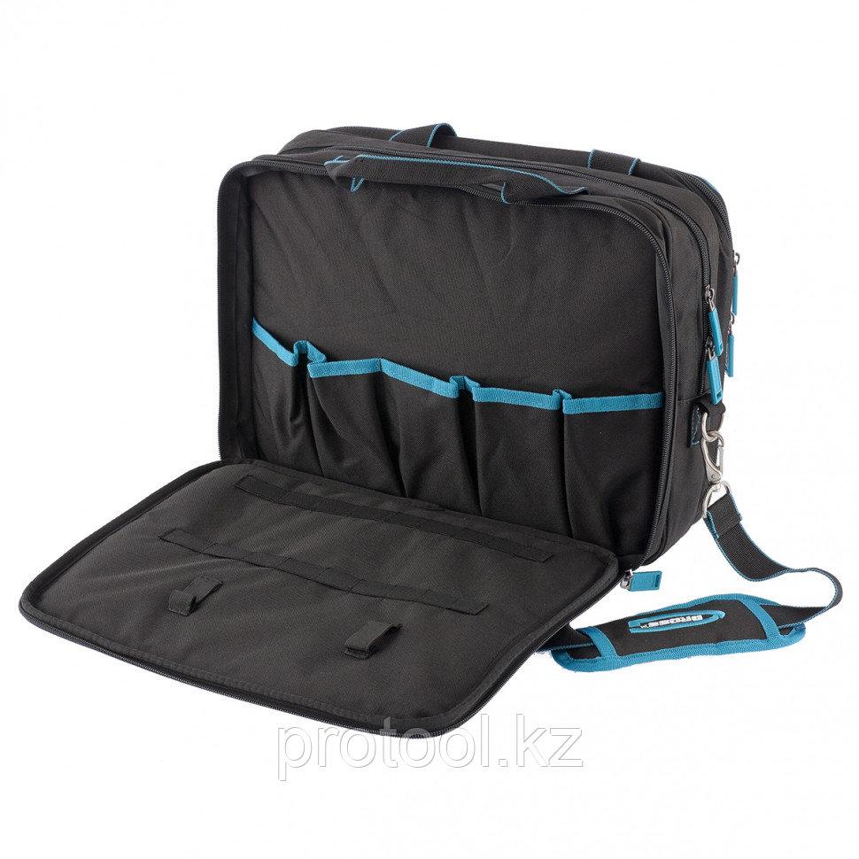 Сумка для инструмента Meister, 31 карман, отсек для ноутбука, наплечный ремень,400*170*300мм// GROSS - фото 2