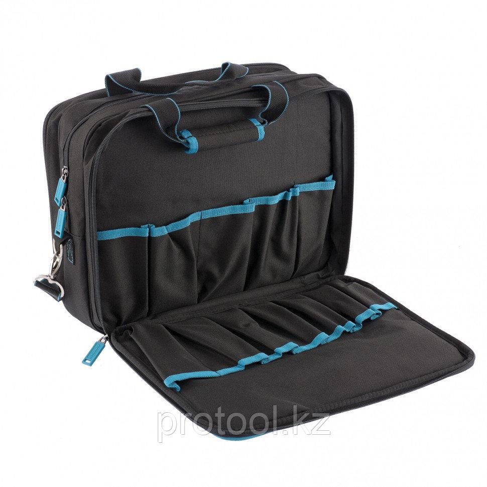 Сумка для инструмента Meister, 31 карман, отсек для ноутбука, наплечный ремень,400*170*300мм// GROSS - фото 3
