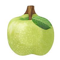 Блюдо из стекла в виде зеленого яблока.