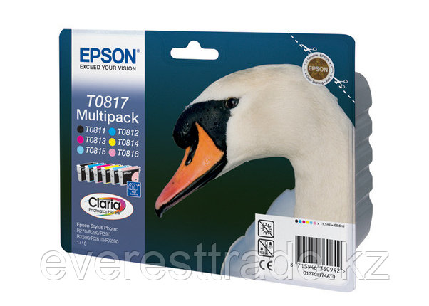 Картридж Epson C13T11174A10 (0817) R270/290/RX590 набор 6 шт., фото 2