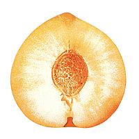 Блюдо из стекла в виде персика.
