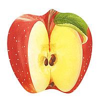 Блюдо из стекла в виде разрезанного яблока.