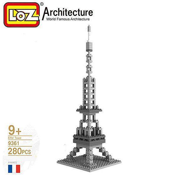 "Конструктор Loz Architecture ""Эйфелева башня"", 280 деталей"