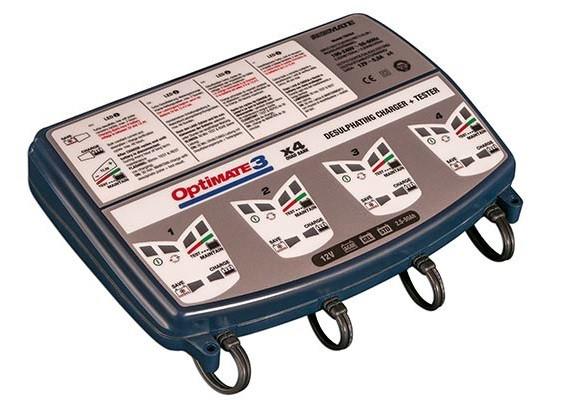 Зарядное устройство ™OptiMate 3 Quad Bank (4x0,8A, 12V)